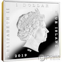 SUNFLOWERS Girasoles Vincent Van Gogh 1 Oz Moneda Plata 1$ Niue 2019