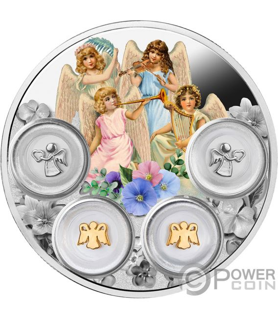 YOUR ANGELS Protective Charms Silver Coin 5$ Niue 2019