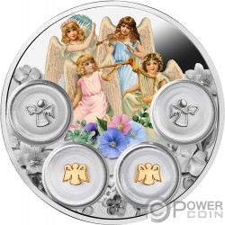 YOUR ANGELS Angelitos Amuletos de la Protectura Moneda Plata 5$ Niue 2019