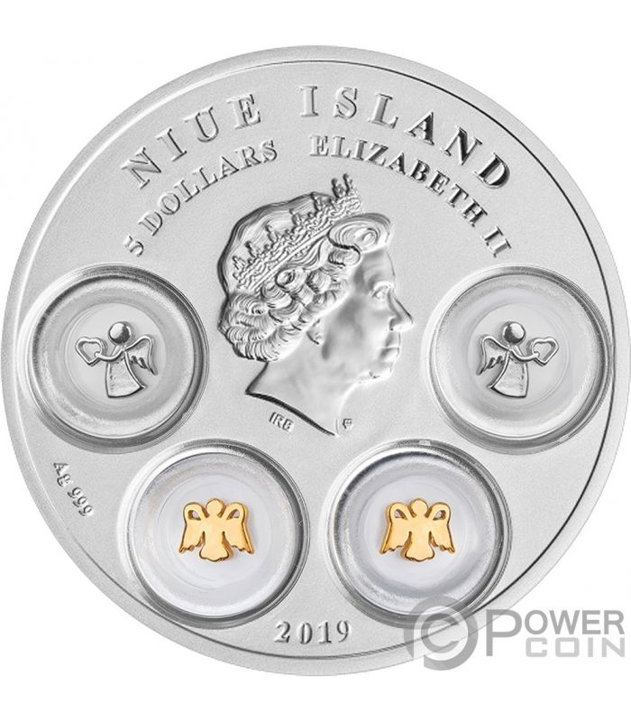 YOUR ANGELS Protective Charms Silver Coin 5$ Niue 2019 - Power Coin
