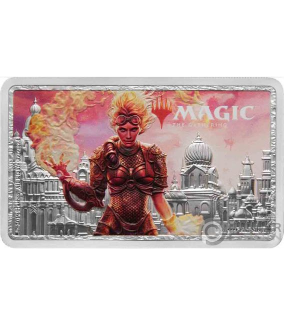 CHANDRA Magic the Gathering 1 Oz Silver Coin 2$ Niue 2019