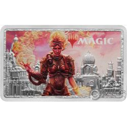 CHANDRA Adunanza Magic the Gathering 1 Oz Moneta Argento 2$ Niue 2019