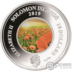REMEMBER THEM Amapola 5 Oz Moneda Plata 10$ Solomon Islands 2019
