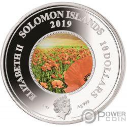 REMEMBER THEM Papavero 5 Oz Moneta Argento 10$ Solomon Islands 2019