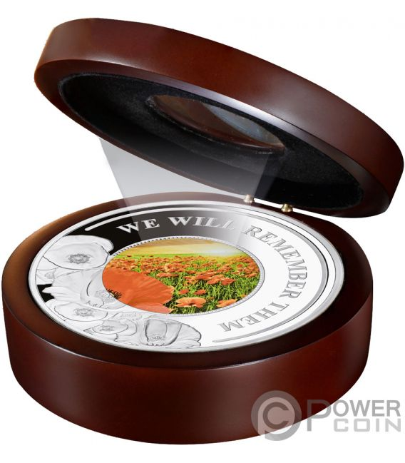 REMEMBER THEM Poppy 5 Oz Silver Coin 10$ Solomon Islands 2019