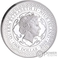 CHINESE Chino Trade Dollar 1 Oz Moneda Plata 1$ Niue 2019