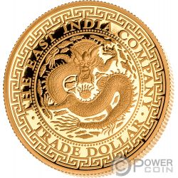 CHINESE Cinese Trade Dollar 1 Oz Moneta Oro 250$ Niue 2019