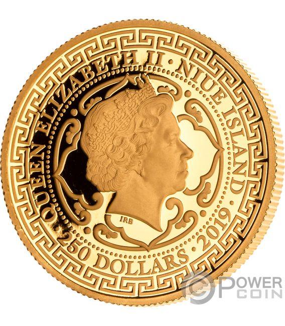 CHINESE Trade Dollar 1 Oz Gold Coin 250$ Niue 2019