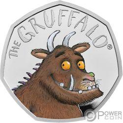 GRUFFALO Зверь 20 Юбилей Монета Серебро 50 Пенсов Великобритания 2019