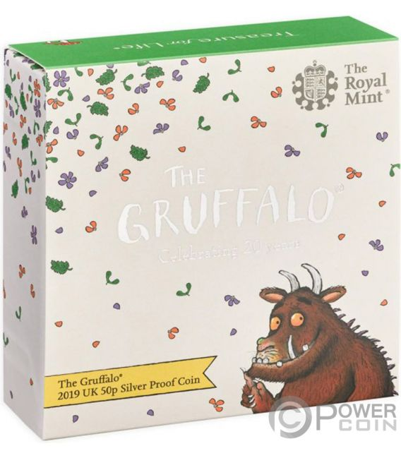 GRUFFALO Beast 20th Anniversary Silver Coin 50 Pence United Kingdom 2019