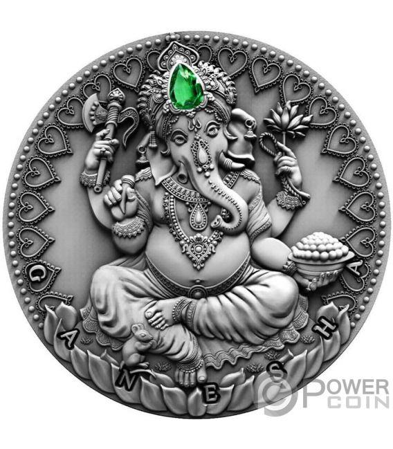 GANESHA World Cultures 2 Oz Silver Coin 2000 Francs Cameroon 2019