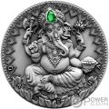 GANESHA World Cultures 2 Oz Silver Coin 2000 Francs Cameroon 2019