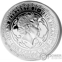 US Vereinigte Staaten Trade Dollar 1 Oz Silber Münze 1$ Niue 2019