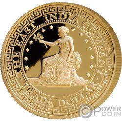 US Stati Uniti Trade Dollar 1 Oz Moneta Oro 250$ Niue 2019