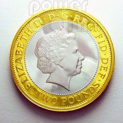 LONDON 2012 OLYMPIC Handover Серебро Монета Proof 2£ UK 2008