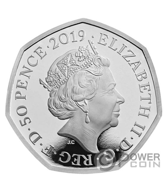 STEPHEN HAWKING Black Holes Piedfort Silver Coin 50 Pence United Kingdom 2019