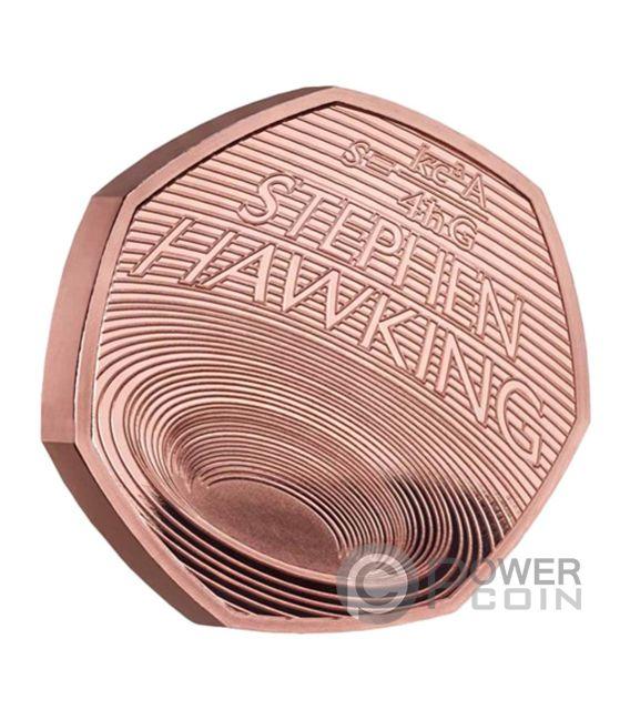 STEPHEN HAWKING Black Holes Gold Coin 50 Pence United Kingdom 2019
