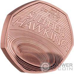 STEPHEN HAWKING Schwarze Löcher Gold Münze 50 Pence United Kingdom 2019