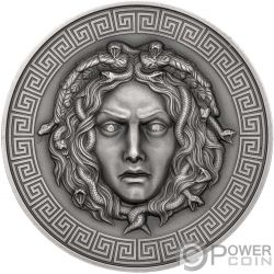 MEDUSA Diamonds 3 Oz Moneda Plata 3000 Francos Cameroon 2019