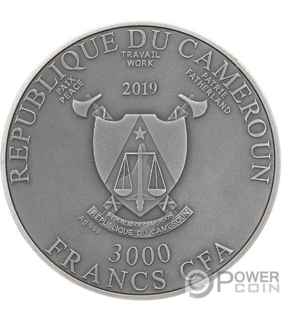 MEDUSA Diamonds 3 Oz Silver Coin 3000 Francs Cameroon 2019