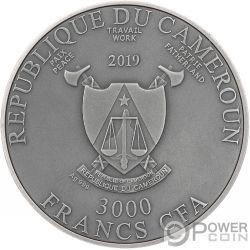 MEDUSA Брильянты 3 Oz Монета Серебро 3000 Франков Камерун 2019