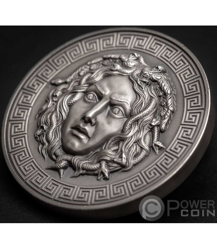 Medusa Diamonds 3 Oz Silver Coin 3000 Francs Cameroon 2019