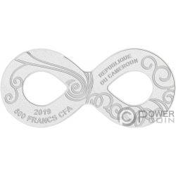 VIVA CARNEVALE Maske Silber Münze 500 Franken Cameroon 2019