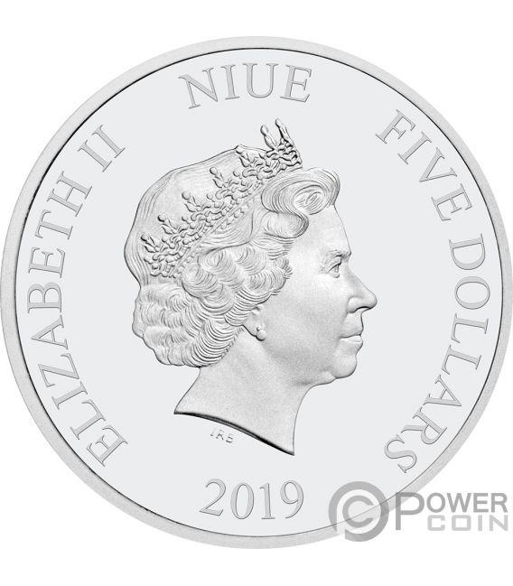 MILLENNIUM FALCON Ultra High Relief Star Wars 2 Oz Silver Coin 5$ Niue 2019