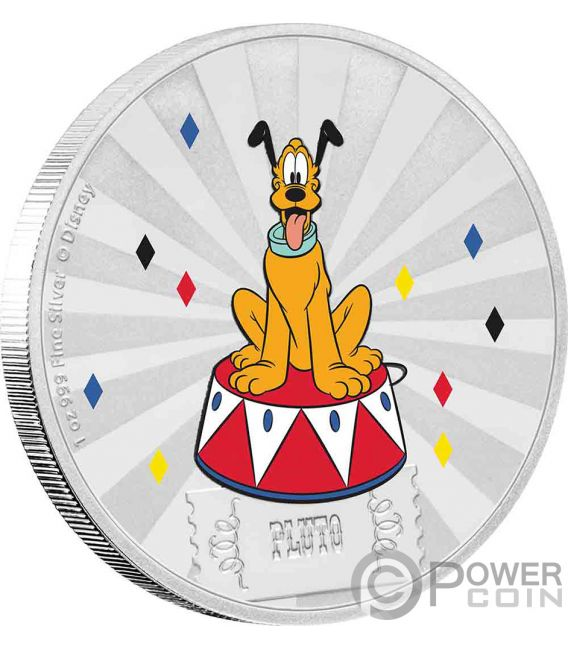 PLUTO Friends Carnival Disney 1 Oz Silber Münze 2$ Niue 2019