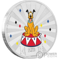 PLUTO Friends Carnival Disney 1 Oz Moneta Argento 2$ Niue 2019