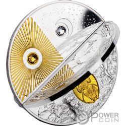 CREATION WORLD Сотворение Мира 2 Монета Серебро 5$ Ниуэ 2019