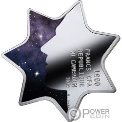 CONSTELLATION LUCK Forma Estrella Moneda Plata 1000 Francos Cameroon 2019