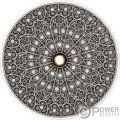 GOTHIC Mandala Art 3 Oz Серебро Монета 10$ Фи́джи 2019