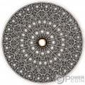 GOTHIC Mandala Art 3 Oz Silver Coin 10$ Fiji 2019
