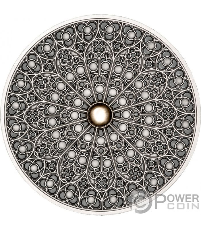 Gothic Mandala Art 3 Oz Silver Coin 10 Fiji 2019 Power Coin