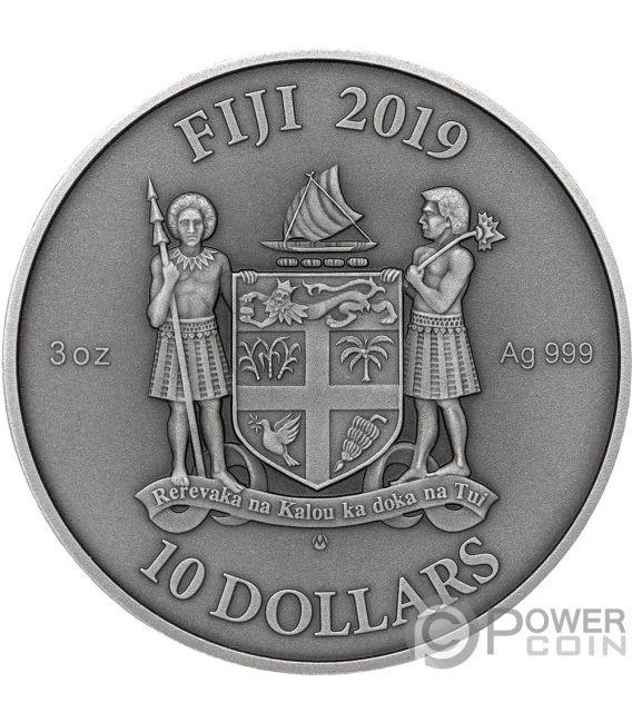 GOTHIC Gotico Mandala Art 3 Oz Moneta Argento 10$ Fiji 2019