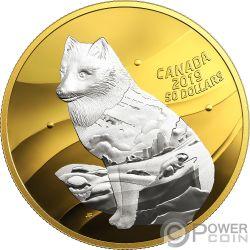 ARCTIC FOX Zorro Artico My Inner Nature 5 Oz Moneda Plata 50$ Canada 2019