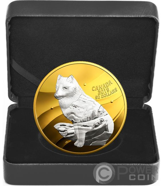 ARCTIC FOX My Inner Nature 5 Oz Silver Coin 50$ Canada 2019