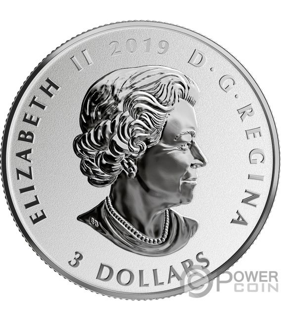 CHERRY BLOSSOMS Fun and Festivities Silver Coin 3$ Canada 2019