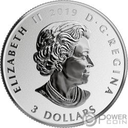 CHERRY BLOSSOMS Деревья Черешня Fun and Festivities Монета Серебро 3$ Канада 2019