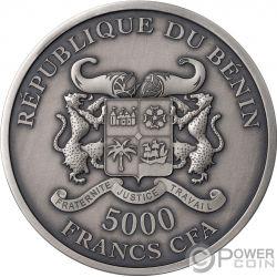 GARDEN OF EDEN Adamo Eva 5 Oz Moneta Argento 5000 Franchi Benin 2019