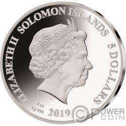 DAVID BOWIE Legends of Music Sid Maurer 1 Oz Moneda Plata 5$ Solomon Islands 2019