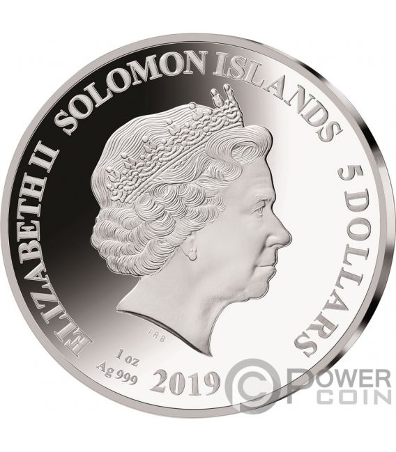 MADONNA Legends of Music Sid Maurer 1 Oz Silver Coin 5$ Solomon Islands 2019