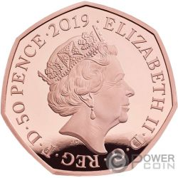PETER RABBIT Beatrix Potter Gold Münze 50 Pence United Kingdom 2019