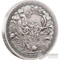 ALI BABA FORTY THIEVES Cuarenta Ladrones Legendary Tales 1 Oz Moneda Plata 2$ Niue 2019