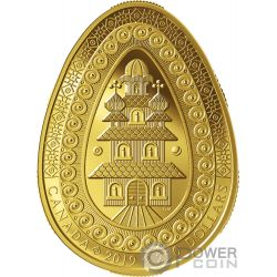 ETERNAL BLESSING PYSANKA Forma Huevo Arte Popular Moneda Oro 250$ Canada 2019