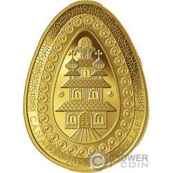 ETERNAL BLESSING PYSANKA Forma Uovo Arte Popolare Moneta Oro 250$ Canada 2019