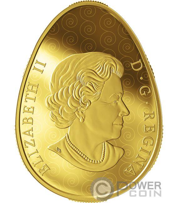 ETERNAL BLESSING PYSANKA Egg Shape Folk Art Gold Coin 250$ Canada 2019