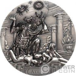 ATLAS Titans 3 Oz Серебро Монета 20$ Острова Кука 2019