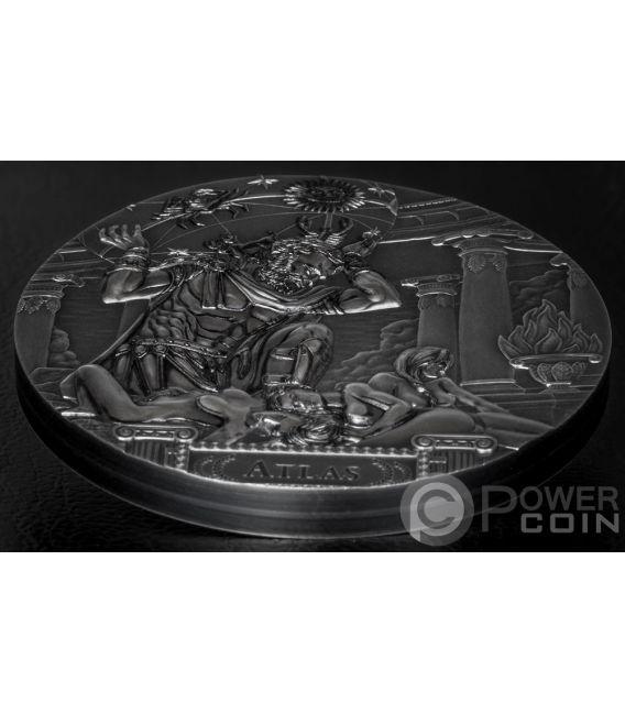 ATLAS Titans 3 Oz Silver Coin 20$ Cook Islands 2019